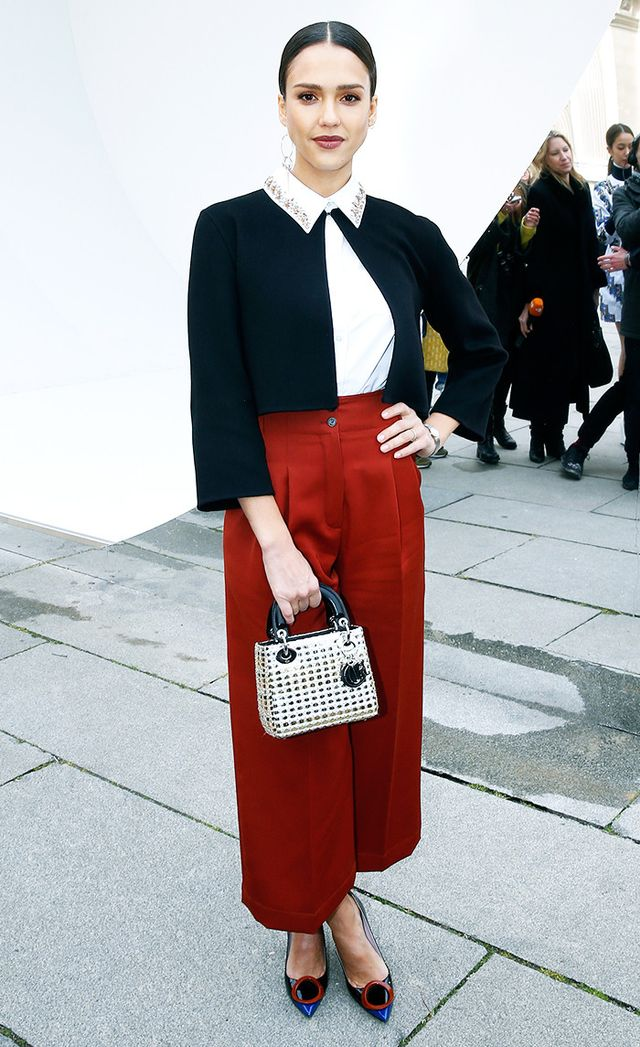 Jerssica Alba at Christian Dior show at Paris Fashion Week