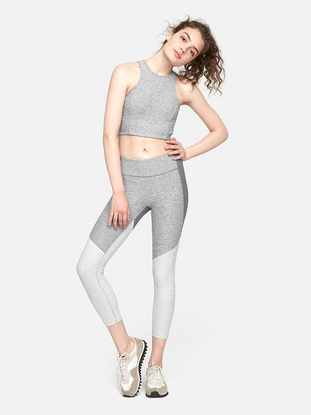 Outdoor Voices 3/4 Tri-Tone Warmup Leggings
