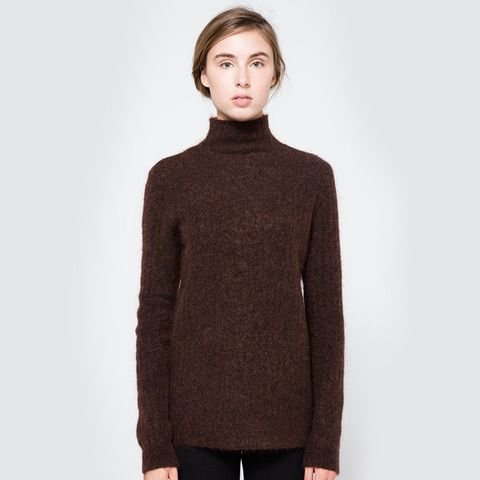 Zoe Turtleneck in Dark Brown