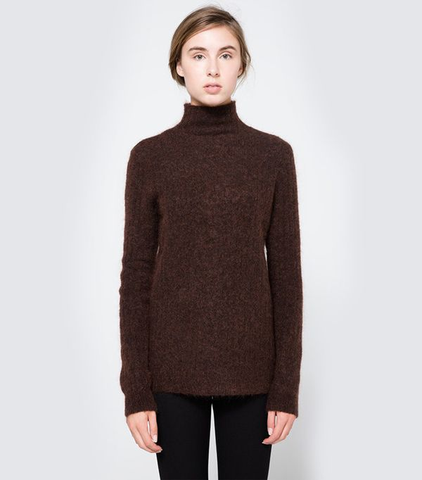 Just Female Zoe Turtleneck in Dark Brown