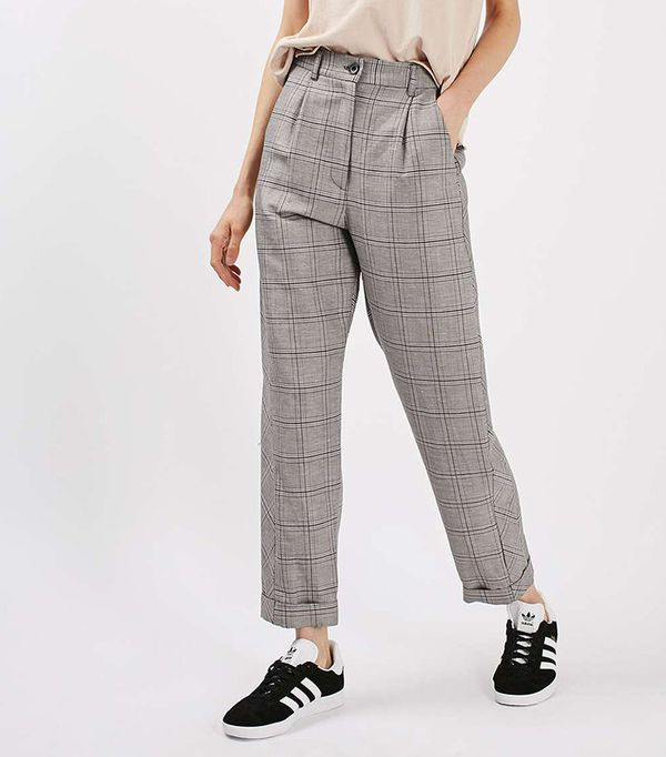 Topshop Check Mensy Peg Trousers