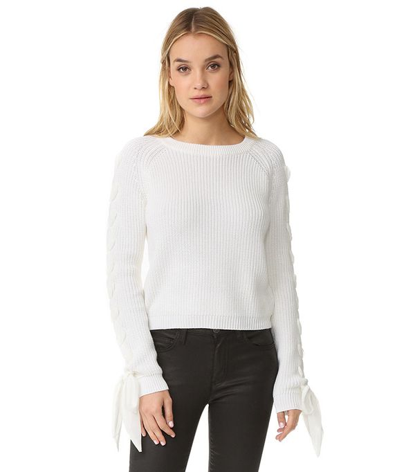English Factory Lace up Sweater