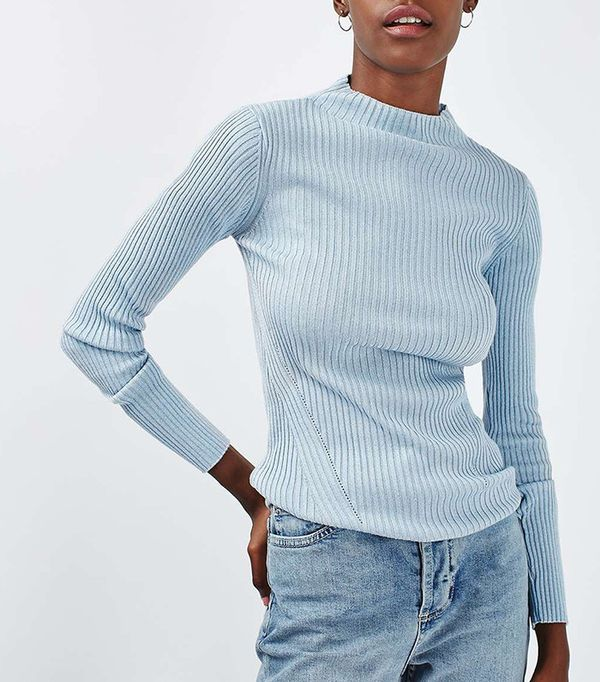 Topshop Grown On Funnel Sweater