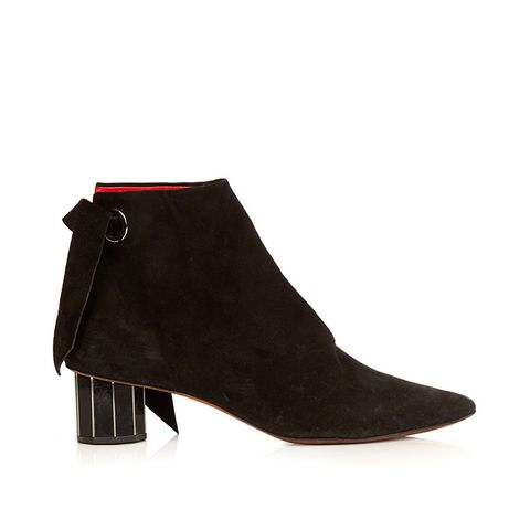 Faceted-heel suede Ankle Boots