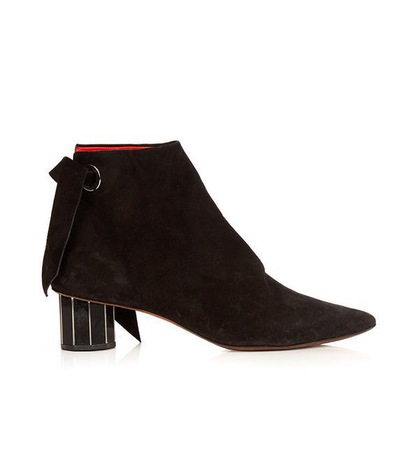 Proenza Schouler Faceted-heel suede Ankle Boots