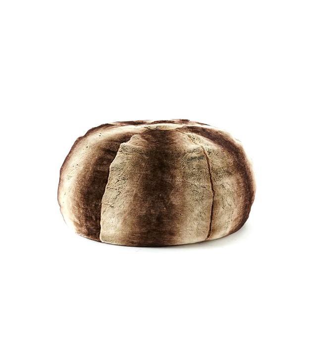 West Elm Faux Fur Ombre Bean Bag in Mocha