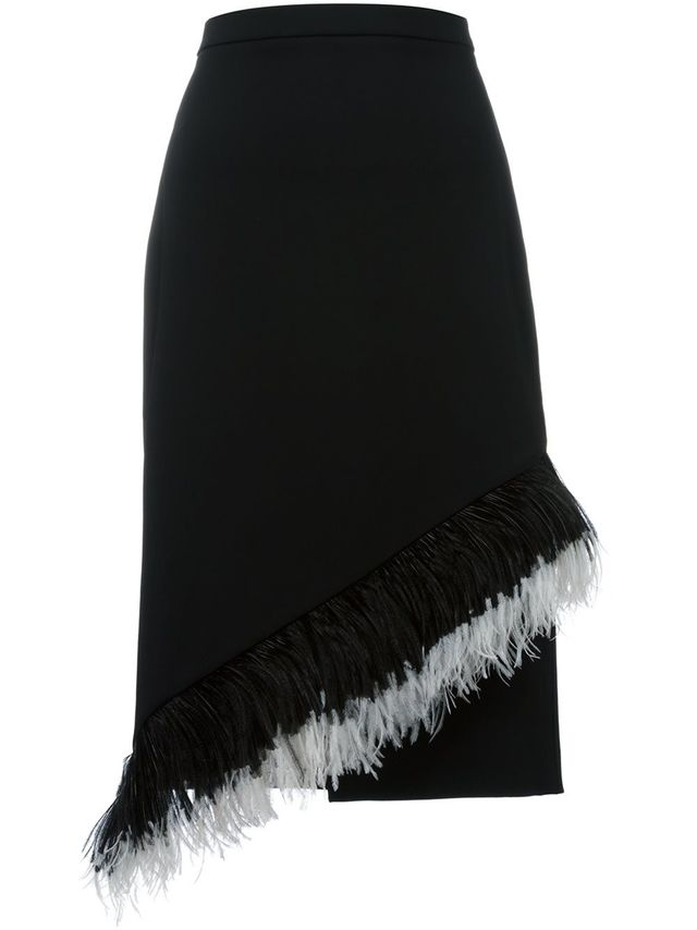 Christopher Kane Feather Trim Skirt
