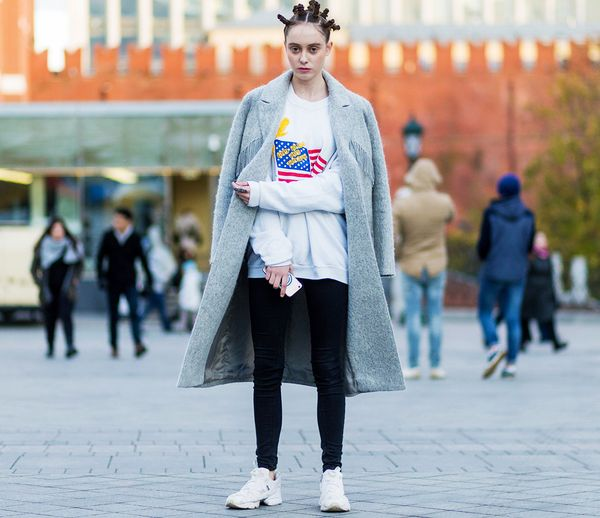 Style Notes: Make athleisure smarter with a smart grey coat.