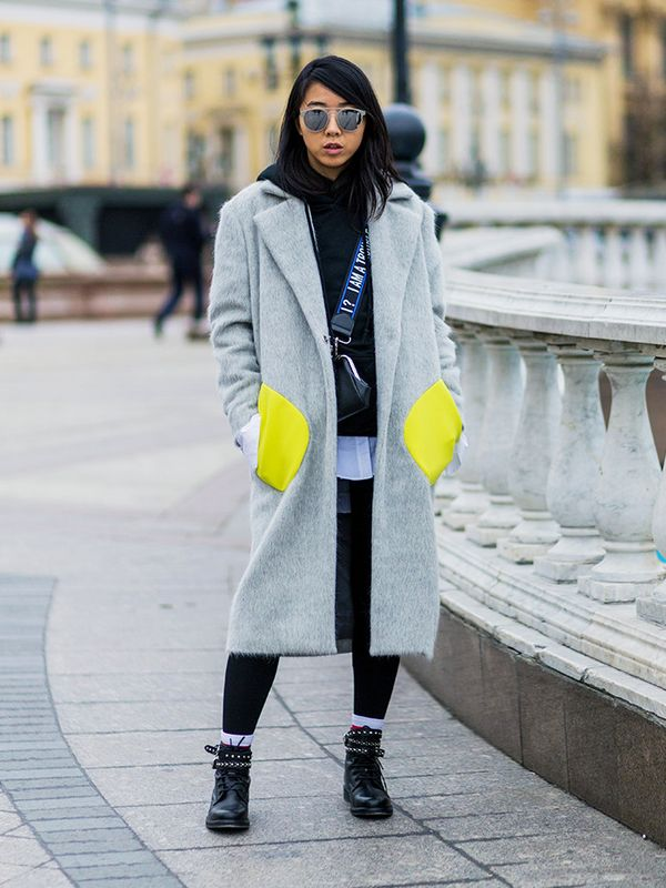 Style Notes: Opt for a coat with interesting features such as a pop of colour on the pockets. Next up!London's coolest girls are wearing these three things.