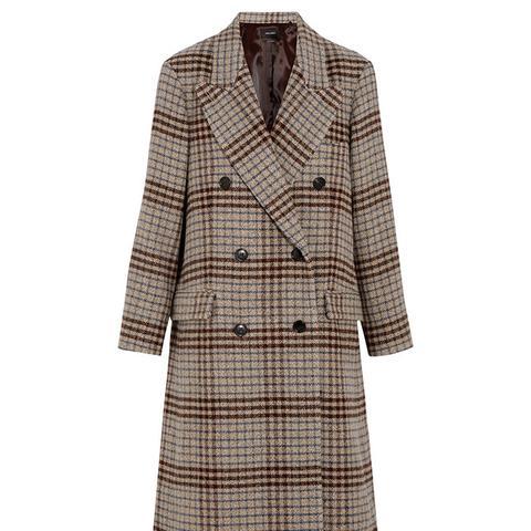 Flint Plaid Wool Coat