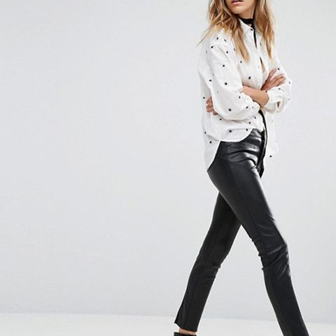 Leather Look Skinny Trouser