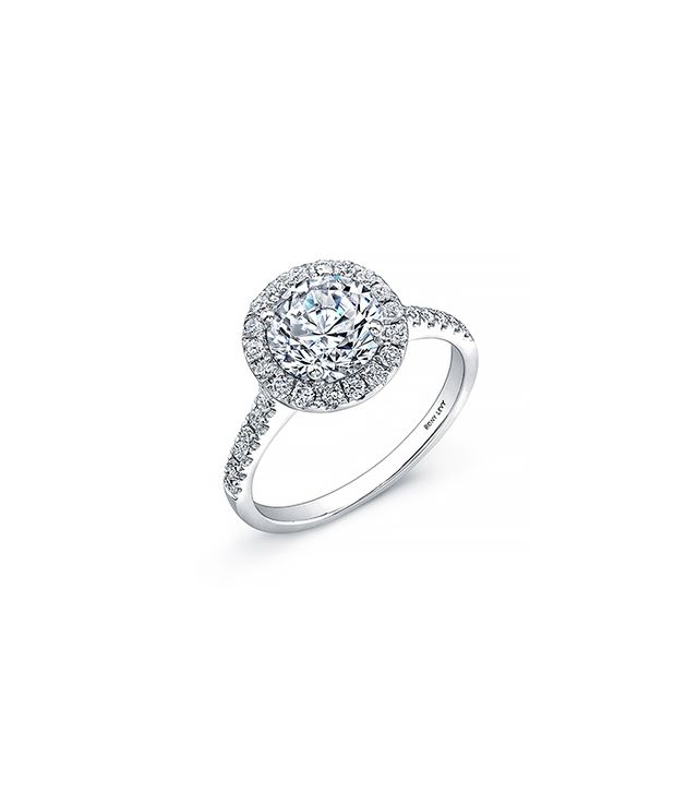 Bony Levy Bridal Pavé Diamond Basket Semi Mount Ring