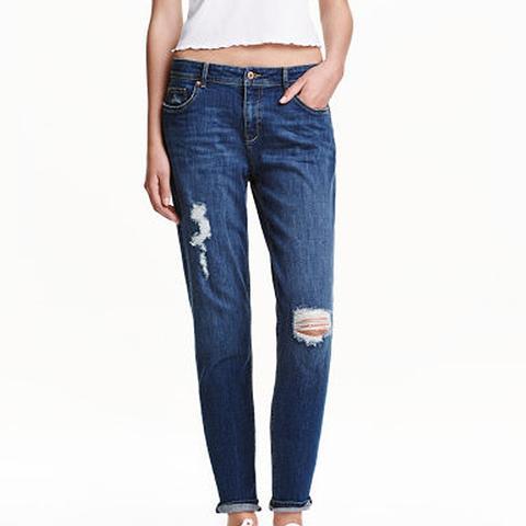 Boyfriend Low Trashed Jeans