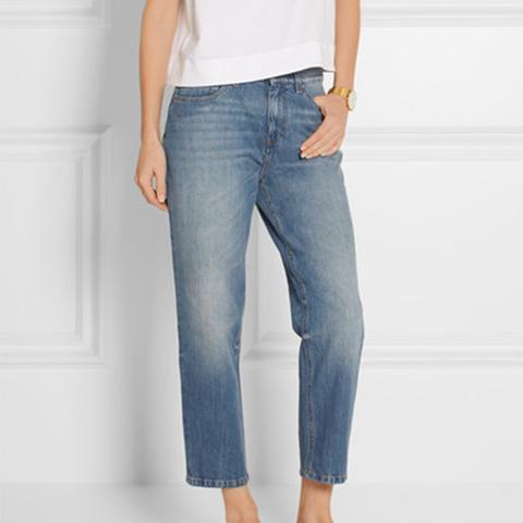 Neat Cropped Low-Rise Boyfriend Jeans