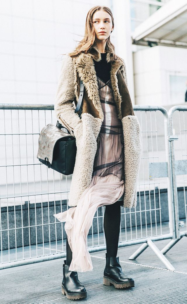 tulle dress street style