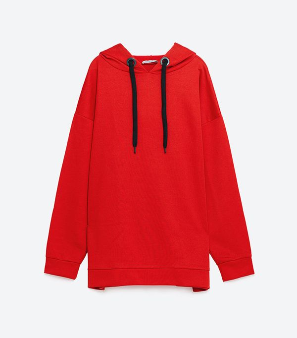 Zara Oversized Hooded Sweatshirt