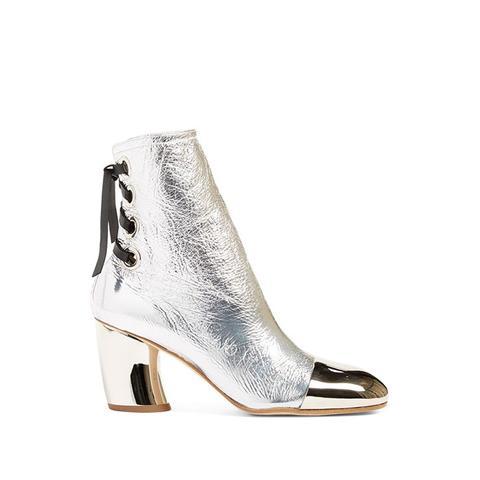 Metallic Cap Toe Boot