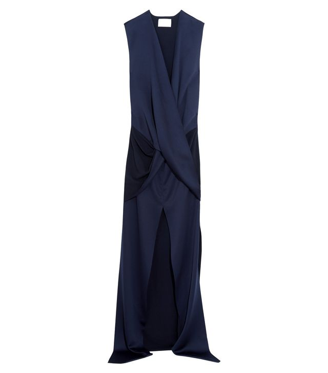 Solace London Erica Wrap-Effect Satin Gown
