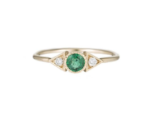 Jennie Kwon Emerald Spear Ring
