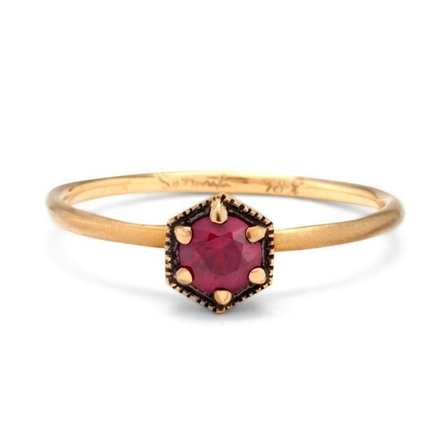Satomi Kawakita Hexagon Ruby Ring