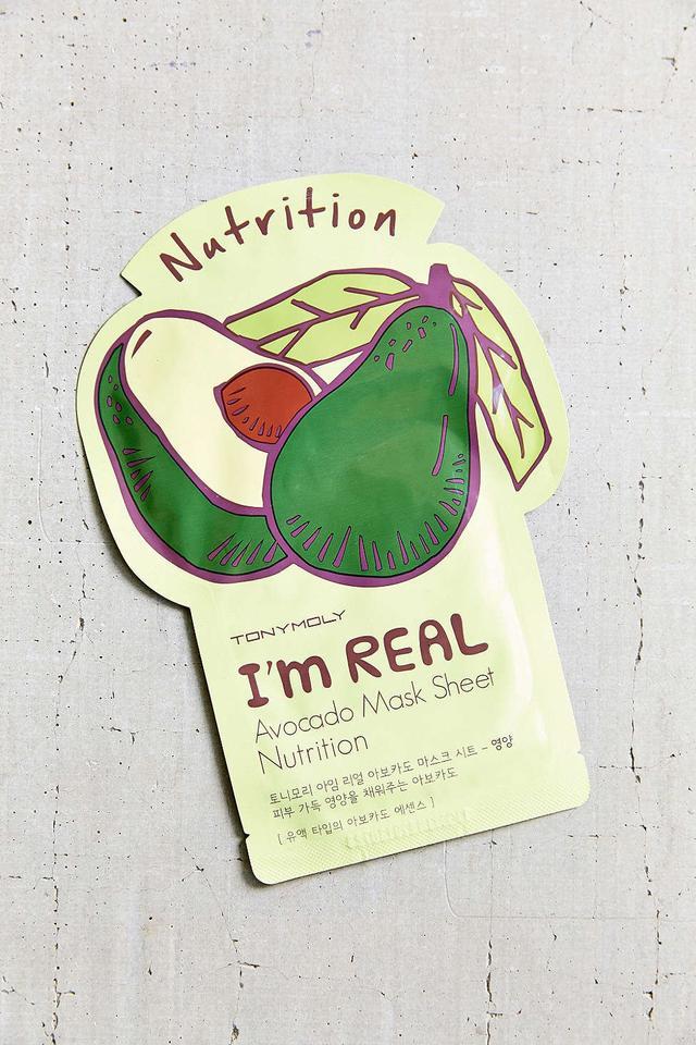 Tony Moly I'm Real Avocado Mask Sheet Nutrition