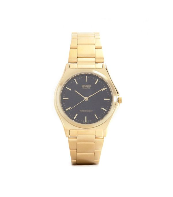 Casio Gold Stainless Steel Strap Watch