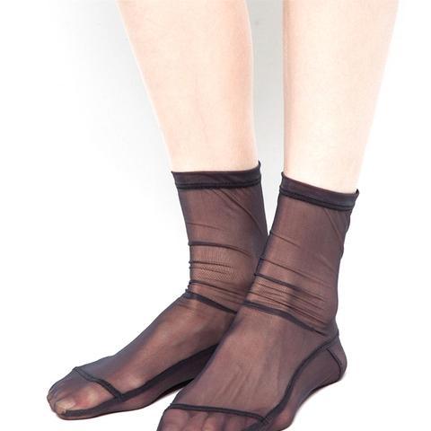 Black Solid Socks