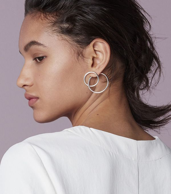Finery Ossom Double Circle Earrings