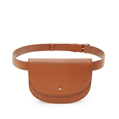 Faux Leather Fanny Pack Belt