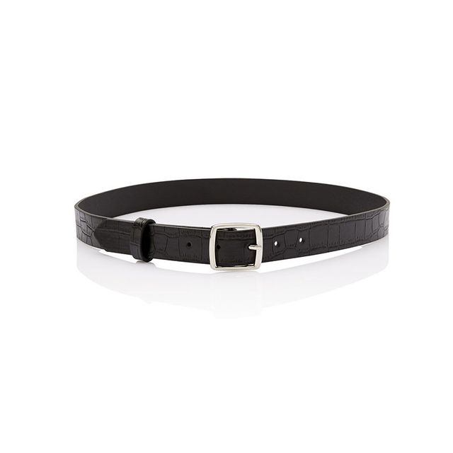 Sportsgirl May Square Black Buckle Belt