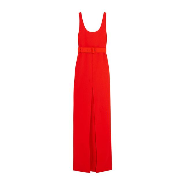 Solace London Tara Belted Red Maxi Dress