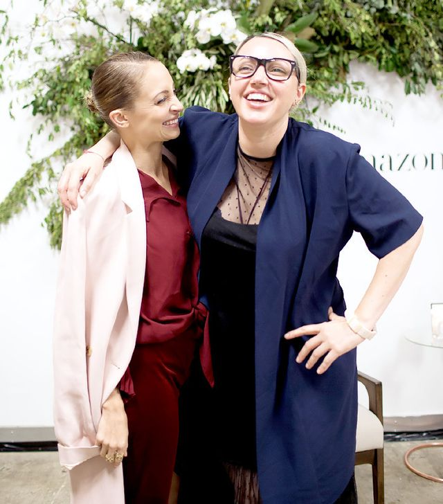 Nicole Richie and HelloGiggles founder Sophia Rossi in two of the chicest looks of the day.