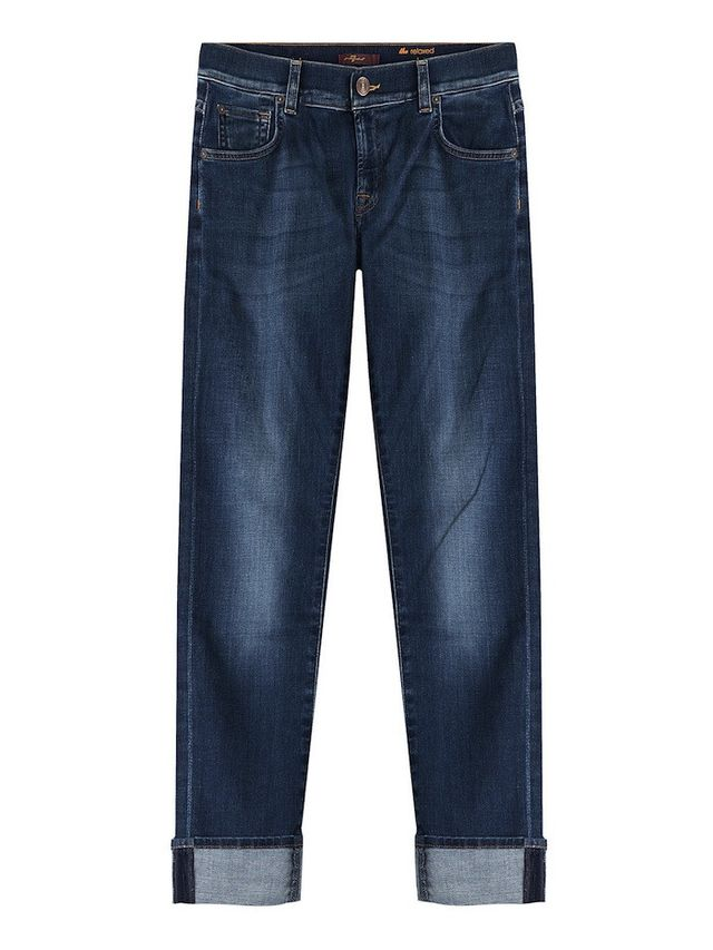 Seven For All Mankind Cuffed Straight Leg Jeans