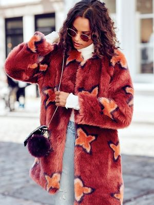 This Bold Faux-Fur Coat Look Is Not for the Faint of Heart