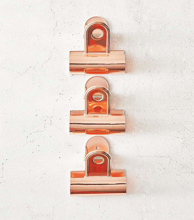Urban Oufitters Giant Copper Bulldog Clips Set of 3