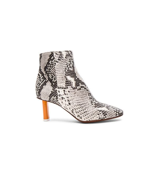 Vetements Python Embossed Ankle Boots in Python & Orange
