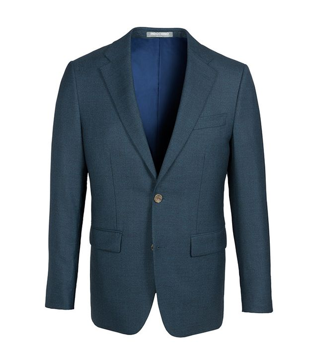 Indochino Fleck Deep Teal Suit