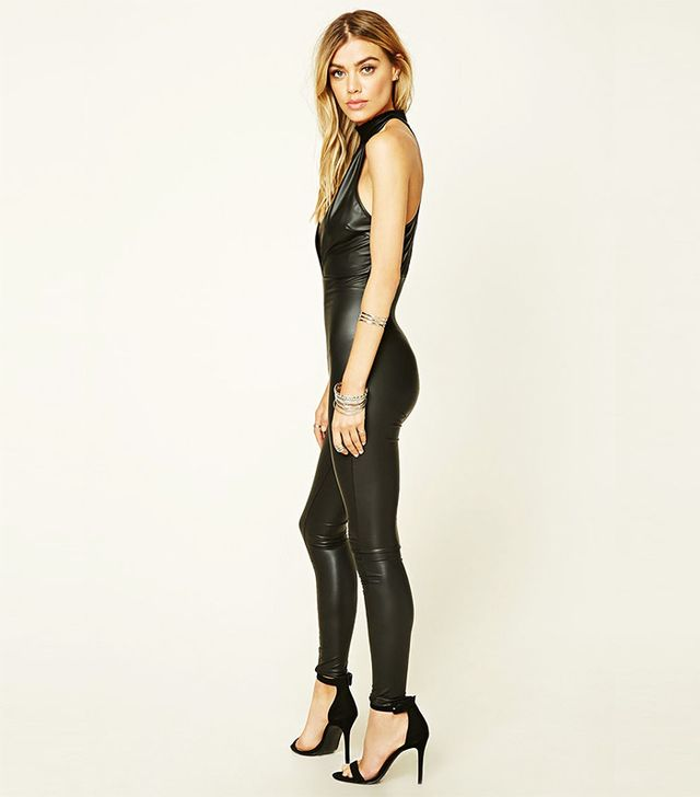 Forever 21 Faux Leather Jumpsuit