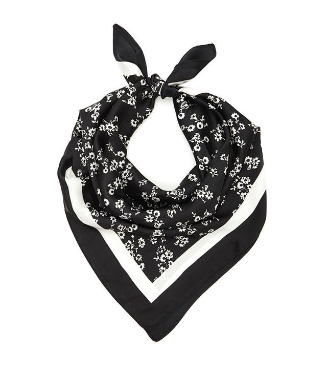 Forever 21 Floral Print Square Scarf