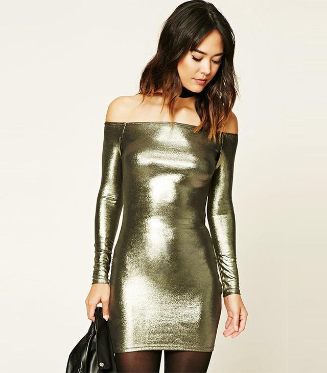 Forever 21 Contemporary Metallic Dress