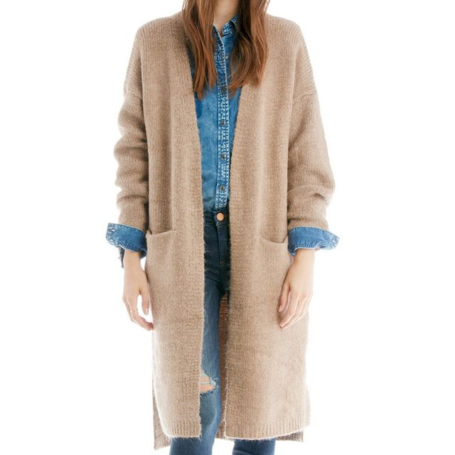 Sole Society Side Slit Sweater Coat