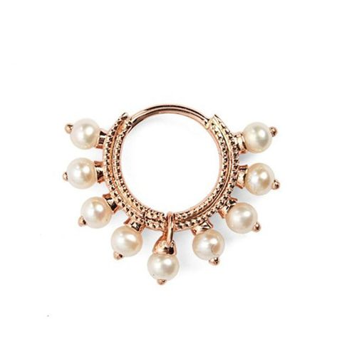 18 Gauge Pearl Coronet Ring