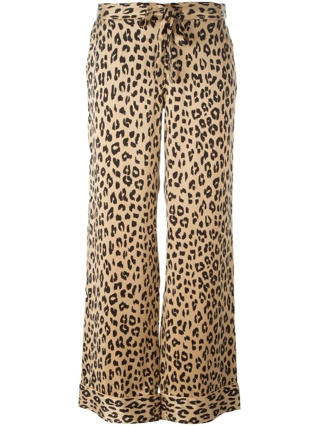 Equipment Kate Moss Leopard Print Trousers
