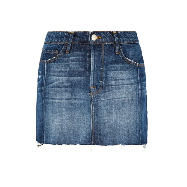 Frame Le Mini MIx Denim Skirt