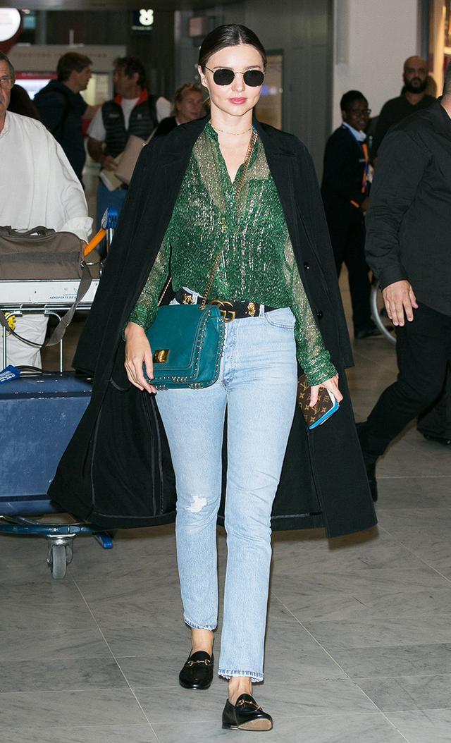 Miranda Kerr at Charles-de-Gaulle airport in Paris