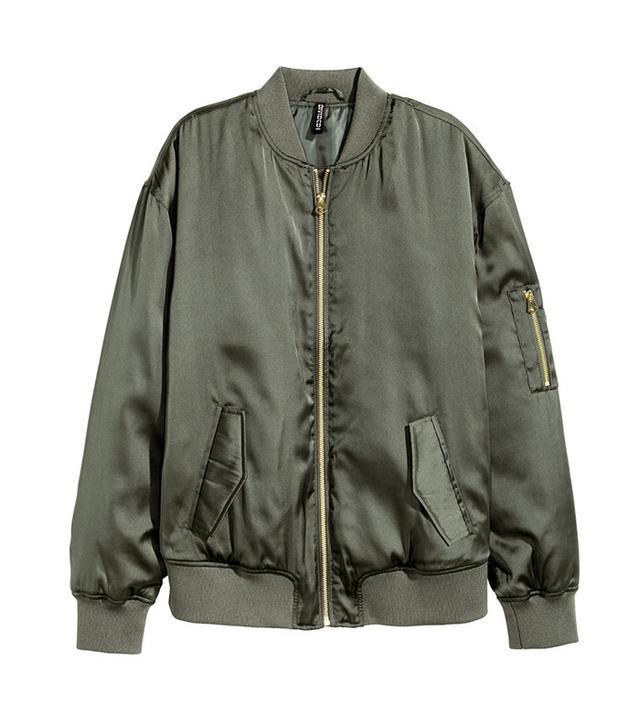 H&M Satin Bomber Jacket