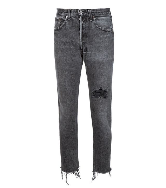 RE/DONE Distressed Cropped Jean