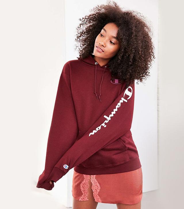 Champion x Urban Outfitters Maroon Hoodie Sweatshirt