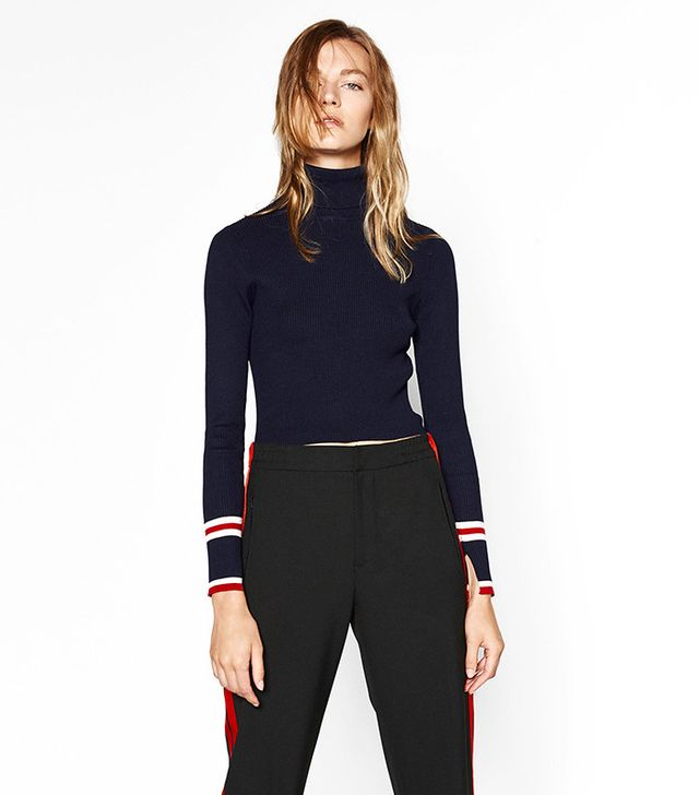 Zara Cropped Turtleneck Sweater