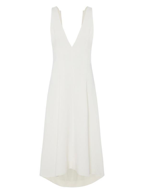 Elissa McGowan Cheminees White Pinafore Dress
